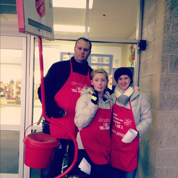 Impact 52 volunteers with the Salvation Army