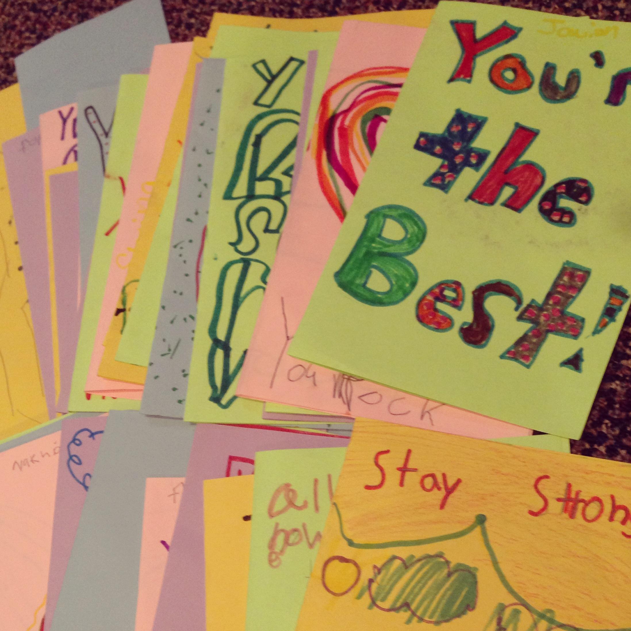 Encouragement Through A Card