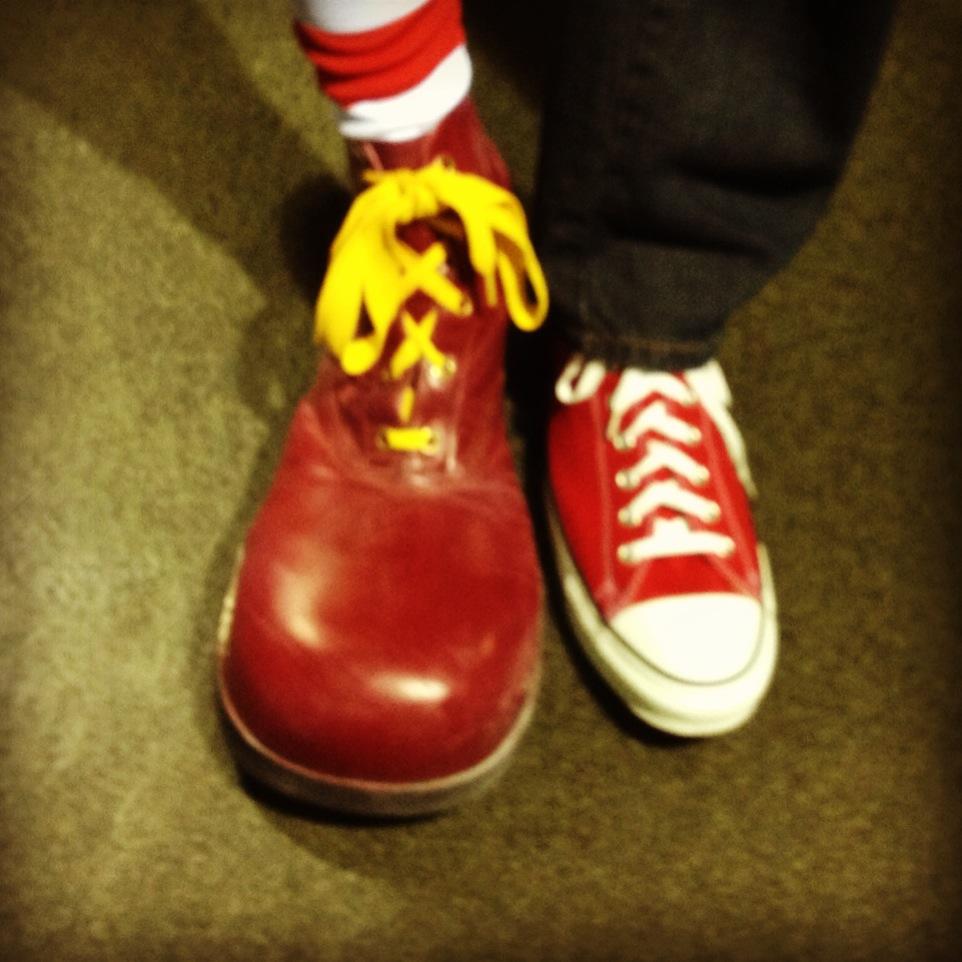 Converse Clown Shoes