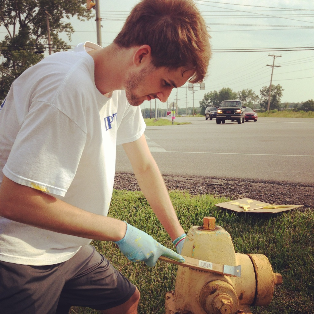 Impact 52 paints fire hydrants in Fort Wayne
