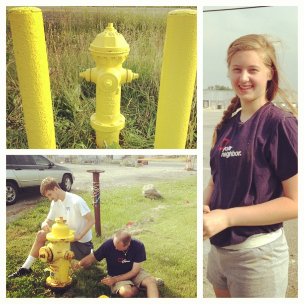 Impact 52 has a great day painting hydrants