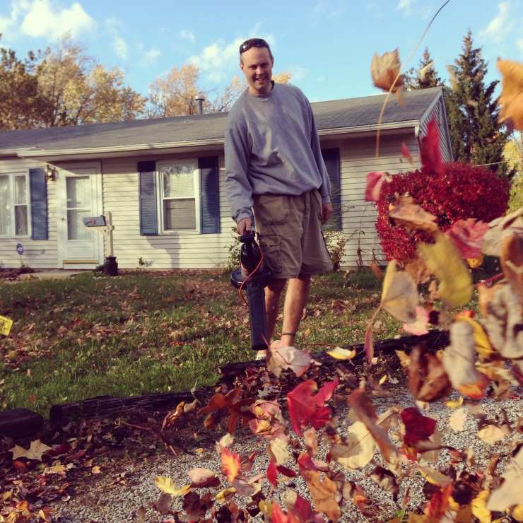 Impact blows leaves for a neighbor in need