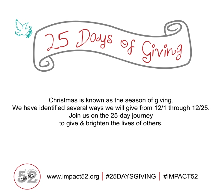 Impact 52's 25 Days of Giving
