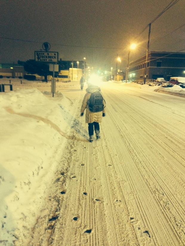 A cold night's walk to help the homeless