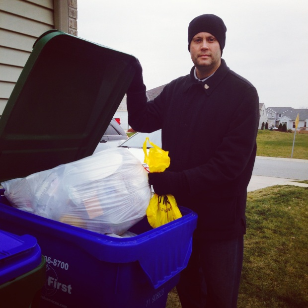 Impact 52 collects trash in the neighborhood