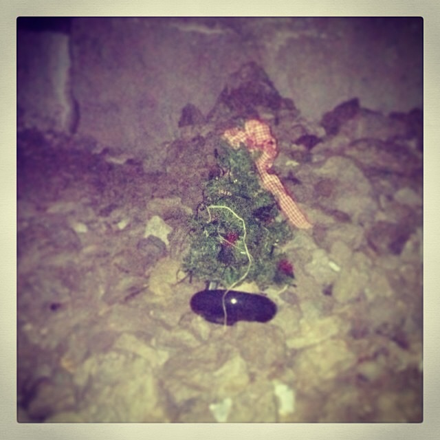The Christmas Spirit is alive under a bridge that some men call home