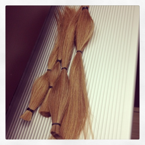 Hair to be donated by Impact 52