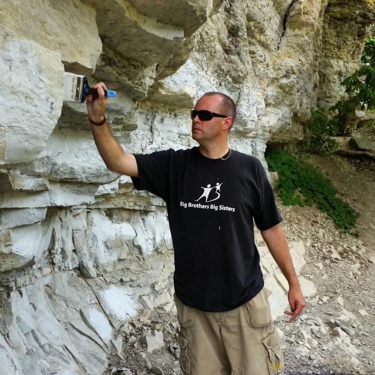 Impact 52 paints over graffiti at Hanging Rock