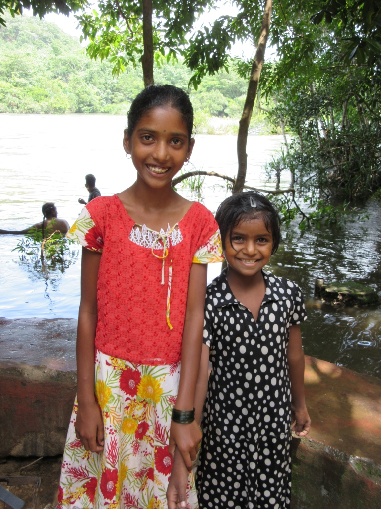 Sujatha and another beautiful girl in India