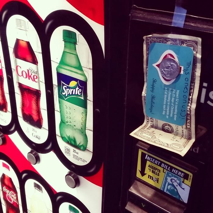 Impact 52 and a vending machine