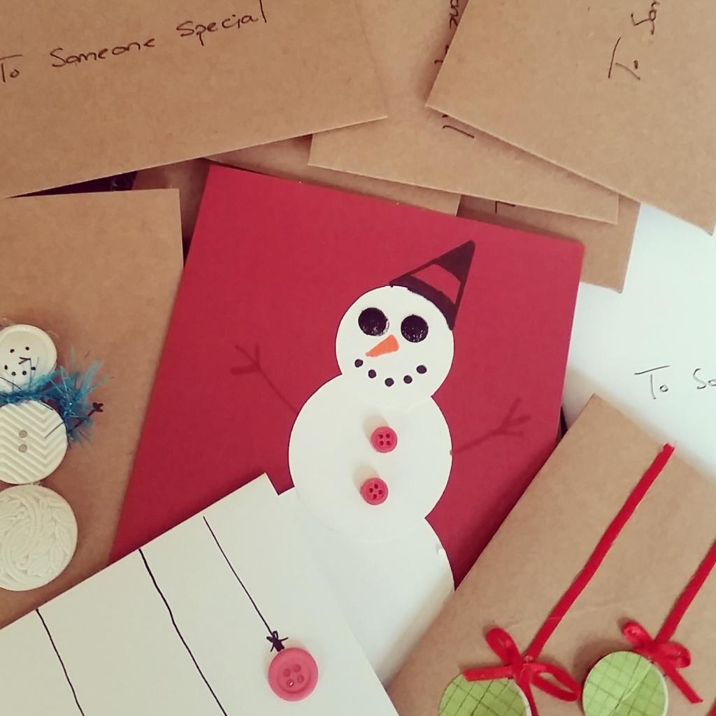 Homemade cards for #25DaysGiving